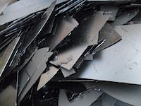 broken silicon wafers